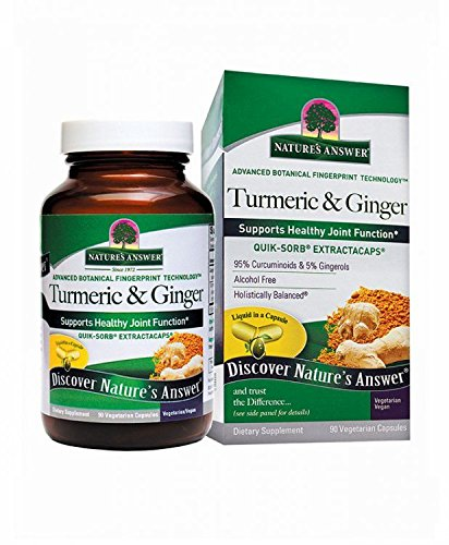 Nature s Answer Extracaps Turmeric and Ginger Vegetarian Capsules, 90-Count