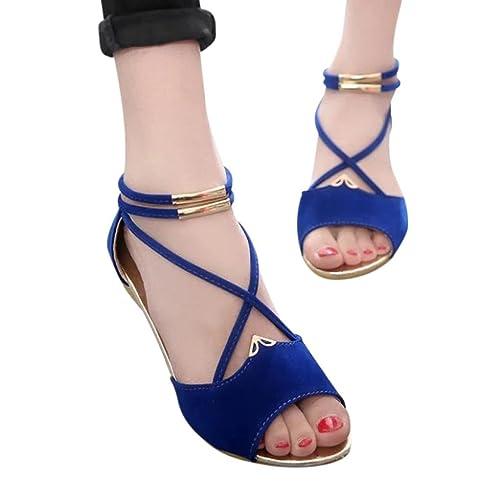 Sandalias y Chanclas de Playa Plano para Mujer Casual QinMM Casual Mujer Zapatos b10da8
