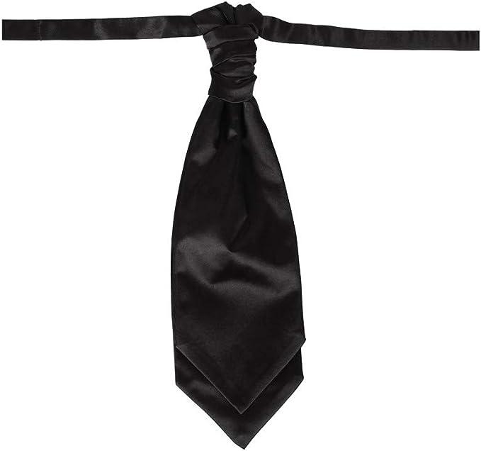 Dan Smith Mens Fashion Cravat Business Satin Extra Long 14.5 Ascot Tie Neck Size 20