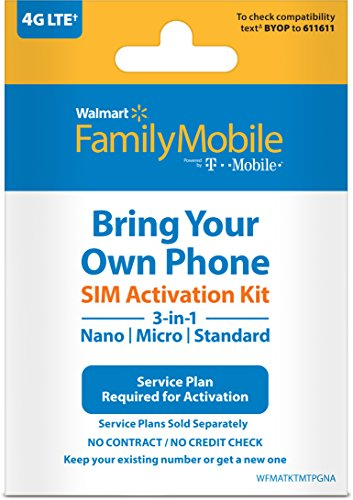 Family Mobile - Bring Your Own Phone - 3-in-1 SIM Card Activation starter Kit (Powered by T-Mobile) by Family Mobile
