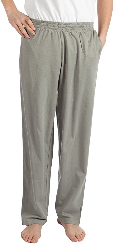 Pembrook Mens Jersey Knit Pants with Elastic Waistband at  Men's Clothing store