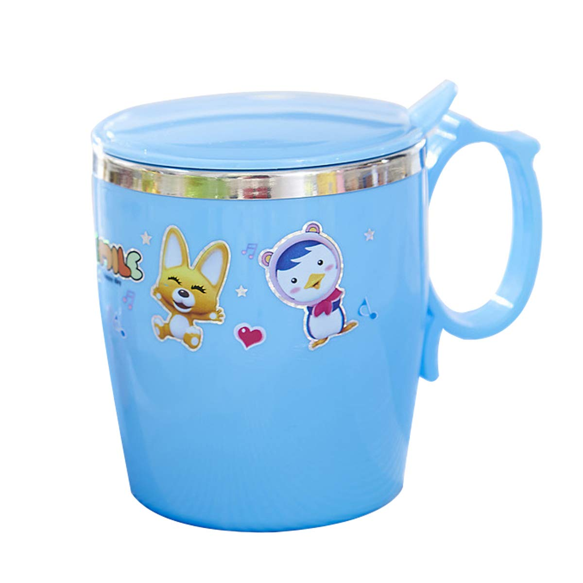 Godagoda Cartoon style kids stainless steel vacuum food container thermos cup