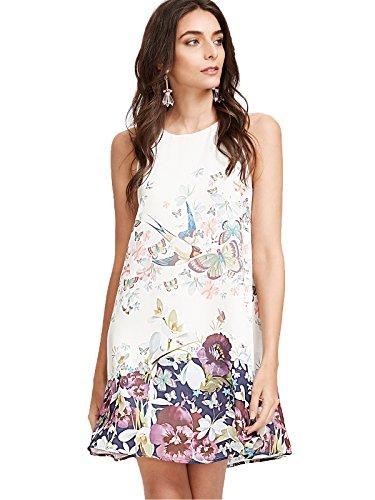 Floerns Womens Floral Sleeveless Dresses