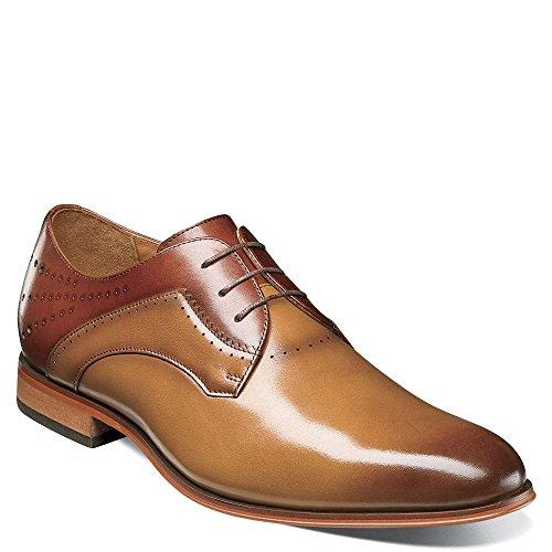 Tan Cognac Men's Adams Savion Stacy Lace Toe up Oxford Plain ATwZCaq