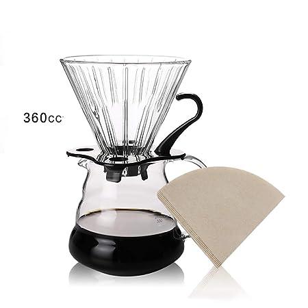 SunRay, cafetera mis en Cristal 360 CC de Capacidad con del Papel ...