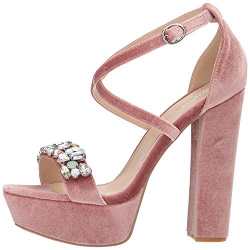 Blush Sandal Platform Women''s Velvet Heeled Qupid w5EIxqx