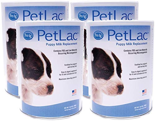 - Pet Ag 4 Pack PetLac Milk Powder Puppies, 10.5-Ounces Each