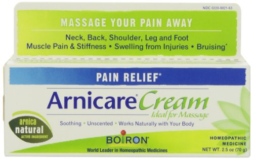 Boiron Arnica Cream for Pain Relief, 2.5 Ounces. Topical Analgesic for Neck Pain, Back Pain, Shoulder Pain, Leg and Foot Pain, Muscle Pain, Joint Pain Relief and Arthritis. Natural Active (Arnica Lotion)