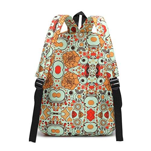 ✦JiaMeng Mochilas Muiltcolora Bolso JiaMeng mujer Escolares Casual Mochila Imprimir Mochilas de Mujer Bolsos Vintage qBtOAX