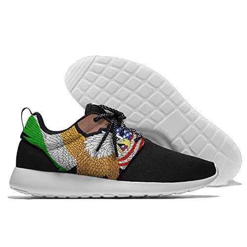 Vlieg Adelaar Ons Vlag Vrije Tijd Sportschoenen Loopschoenen Atletische Sneakers Zwart