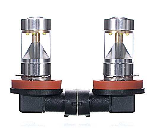Boltlink LED Ultra Bright H11 Cree LED Fog Lights 6000k Yellow 1200lumens 30w All Bulbs Sizes,pack of 2