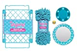 School Locker Organizer Kit - Accessories and Decoration Set with Locker Light, Mirror, Rug and Shelf (4 Piece Set)