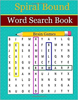 Spiral Bound Word Search Book: Experience the simple joy of