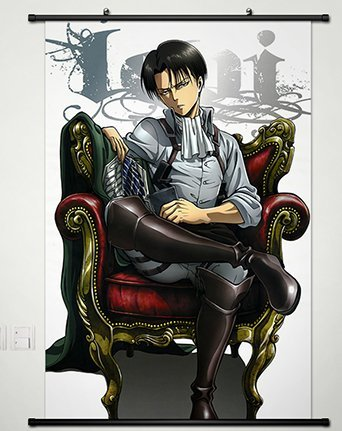 Wall Scroll Poster Fabric Painting For Anime Attack On Titan Levi 131 L