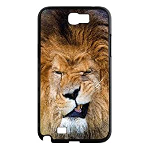 Vety Lion Grin Cases for Samsung Galaxy Note 2 Protector Cute, Samsung Galaxy Note2 Case Luxury for Teen Girls Protective with Black