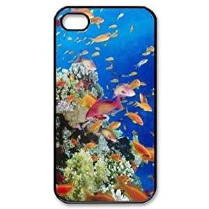 THE UNDERSEA WORLD CHA8038317 Phone Back Case Customized Art Print Design Hard Shell Protection Iphone 4,4S