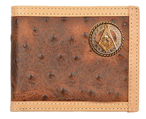 f433b5d2ae3d Custom Masonic Square and Compass Brown Ostrich Pr