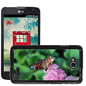 Super Stella Slim PC Hard Case Cover Skin Armor Shell Protection // M00149207 Peacock Butterfly Butterfly Flower // LG Optimus L70 MS323