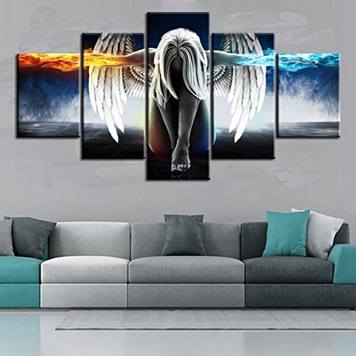 BigFamily 2 Sizes Abstract Angel Wings Home Wall Decoration Landscape Oil Canvas Paintings