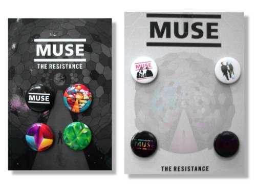 Muse 8 Pin Button Gift Set Pack - The Resistance