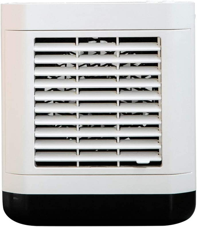 SHENXINCI Climatizador Evaporativo Portátil y Compacto, Ventilador Refrescante, Pantalla Inteligente LED/de Iones Negativos de 1000 W,3 Velocidades,con Luz de Noche,Batería Integrada,3 Colores