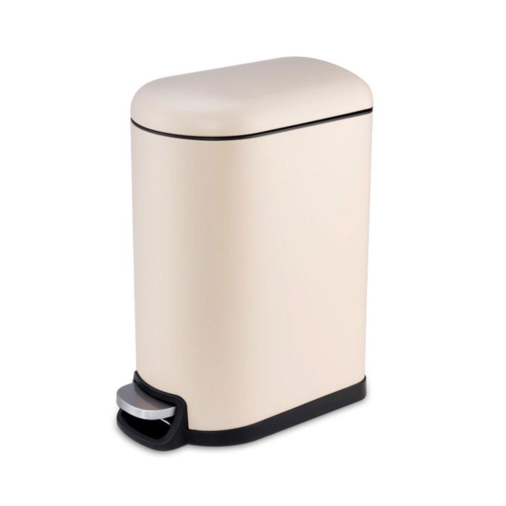 ステンレススチールのゴミ箱は、リッドとフットペダルプラスチック製の内側のバケツ寝室のリビングルームバスルームオフィス10L/2.6gallon (色 : A) B07CZ5YZMJ A A