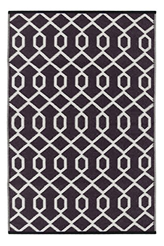 Green Decore Valencia Outdoor/Plastic/Reversible Eco Rug, Coco Brown/Ivory by Green Decore