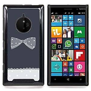 Eason Shop / Premium SLIM PC / Aliminium Casa Carcasa Funda Case Bandera Cover - Gris De Punto De lunares - For Nokia Lumia 830