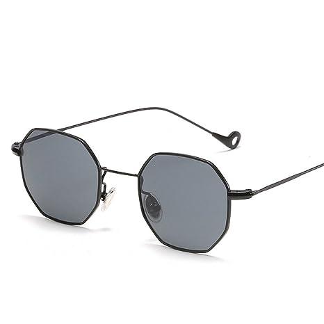 96c9a394a4b0 RFVBNM Small Square Sunglasses Retro sea Piece Sun Glasses Men and Women  Sunglasses Flat Mirror