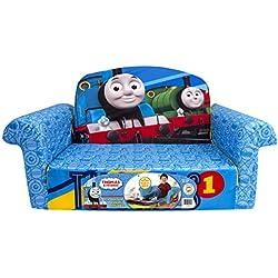 Marshmallow Furniture - Children's 2 in 1 Flip Open Foam Sofa, Thomas Flip Open Sofa