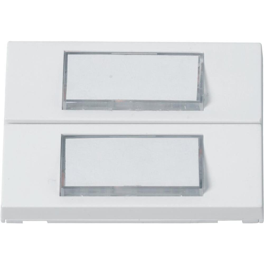 Heidemann 70057 Klingelplatte beleuchtet, con Namensschild 2fach Blanco 24 V/1A