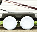 #4: Tire-Guard - Set Of 4 PREMIUM Arctic White Tire Covers Made From WATERPROOF Polyester & Vinyl Use On RV - TRAILER - CAR - TRUCK