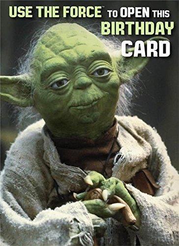 Star Wars Yoda Gluckwunschkarte Zum Geburtstag Use The Force Um
