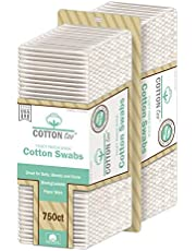 Cotton Too 750 Piece Cotton Swabs With White Paper Stick, 2 Count