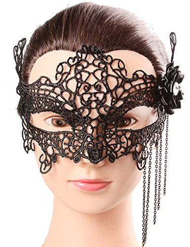 Venetian Bird Mask (ELLAGOWNS Black Sexy Lace Eyes Mask Masquerade Masks for Women011)
