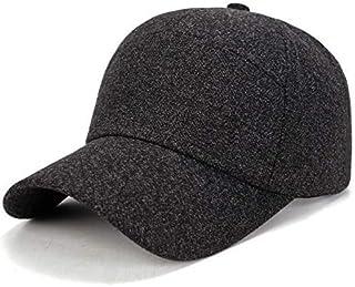 FERZA home Berretto da baseball caldo per il tempo libero Cappello per il berretto morbido da corsa Berretto da sport traspirante regolabile Ispessimento invernale per gli uomini Sport Trucker CapDark