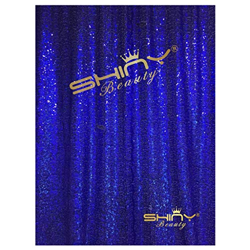 ShiDianYi 4FTX6FT-Royal Blue-Sequin Photo Backdrop, Wedding Photo Booth,Photography Background (Royal Blue)