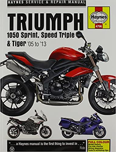Triumph 1050 Sprint St Speed Triple Tiger 05 13 Haynes