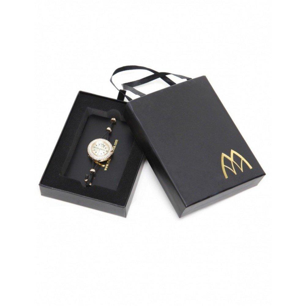 Marco Mavilla Pepito - Reloj Reversible de calavera, dorado y con brillantes, PSK02RG: Amazon.es: Relojes