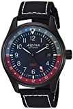 Alpina Men's 'Startimer' Swiss Quartz Stainless Steel and Nylon Casual Watch, Color Black (Model: AL-247BR4FBS6)