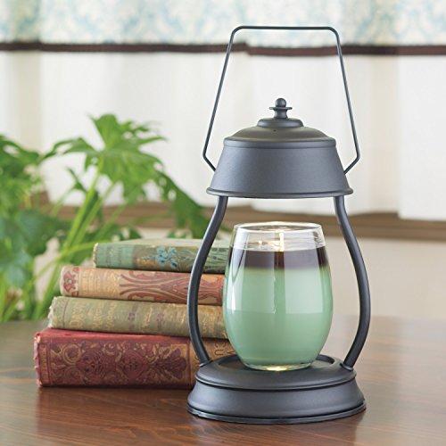 Candle Warmers Etc. Hurricane Candle Warmer Lantern, Black