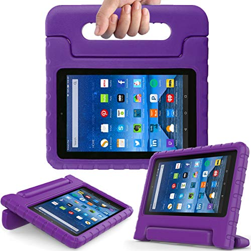AVAWO Kids Case for Fire 7 2017 - Light Weight Shock Proof Handle Kid-Proof Case for Fire 7 inch Display Tablet (7th Generation - 2017 Release), - Inch 7 Tablet Purple Case