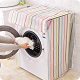 Autumn Water Transparent Print Stripe Washing Machine Covers Home Storage Organization Gadgets Waterproof Easy to Clean Household Supplies