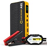 Image of CAR ROVER Car Jump Starter 800A Peak 14000mAh Portable Emergency Battery Charger with Smart Jumper Cables for 6.0L Gas 3.0L Diesel Engine