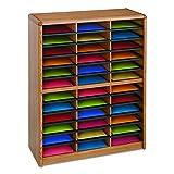 Safco Products 7121MO Value Sorter Literature Organizer, 36 Compartment, Medium Oak