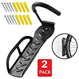 ZWR Heavy Duty Bicycle Bike Wall Hook Rack Holder Hanger Stand Bike Storage System for Garage/Shed with Screw (2pack)