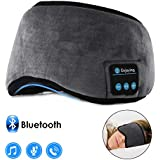 Bluetooth Sleeping Eye Mask Wireless Headphone, WALLFIRE Adjustable Music Bluetooth Sleep Earphones Headsets, Built-in 4.2 Speakers Microphone Handsfree fit for Air Travel and Sleeping (Grey)