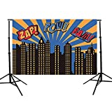 FIRSTLIKE 5x3FT Vinyl Superhero Theme Photography Backdrop Background Photo Studio Props