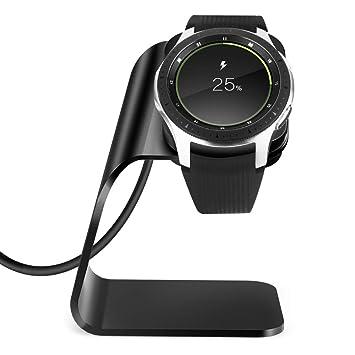Ximu Compatible Samsung Galaxy Watch Base de Carga 42mm / 46mm, Base de Cargador para Samsung Galaxy Watch, Samsung Gear s3 Base de Carga portátil ...