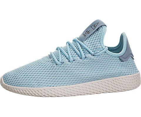3b5861312 adidas x Pharrell Williams Tennis HU J Shoe Icey Blue Footwear White 5 M US